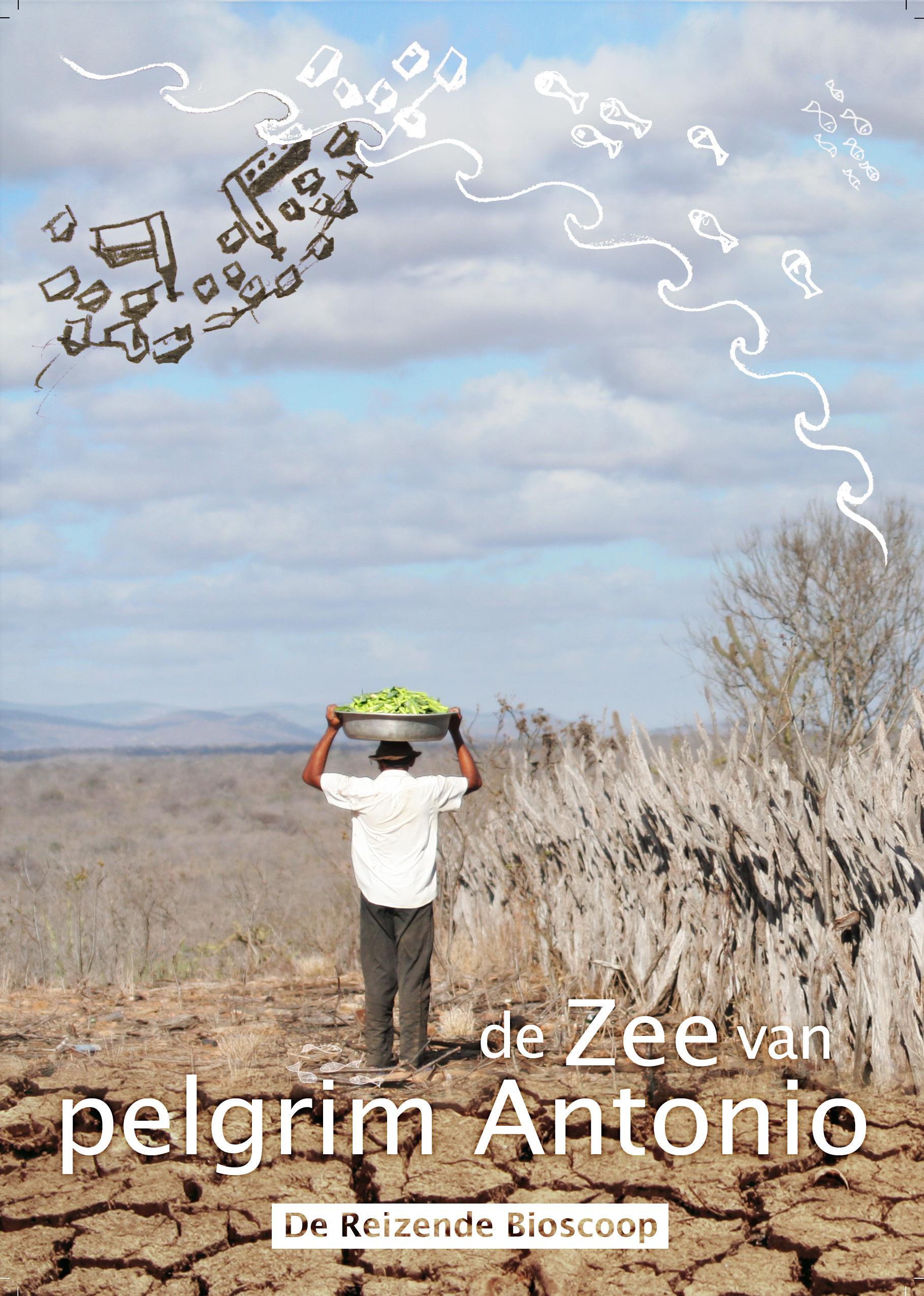 De Zee van pelgrim Antonio - poster met tekst