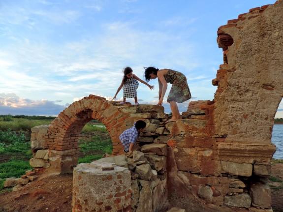 Ruinen von Canudos wieder auf dem Trockenen